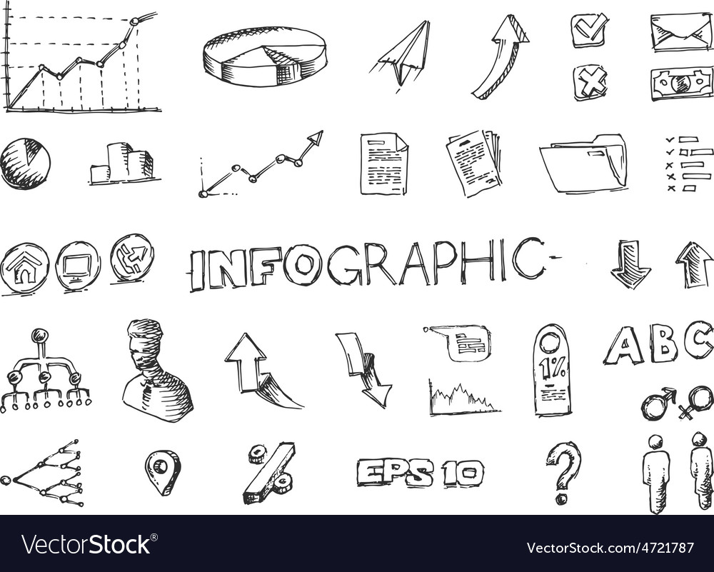 Hand drawn infographic elements vector | Price: 1 Credit (USD $1)