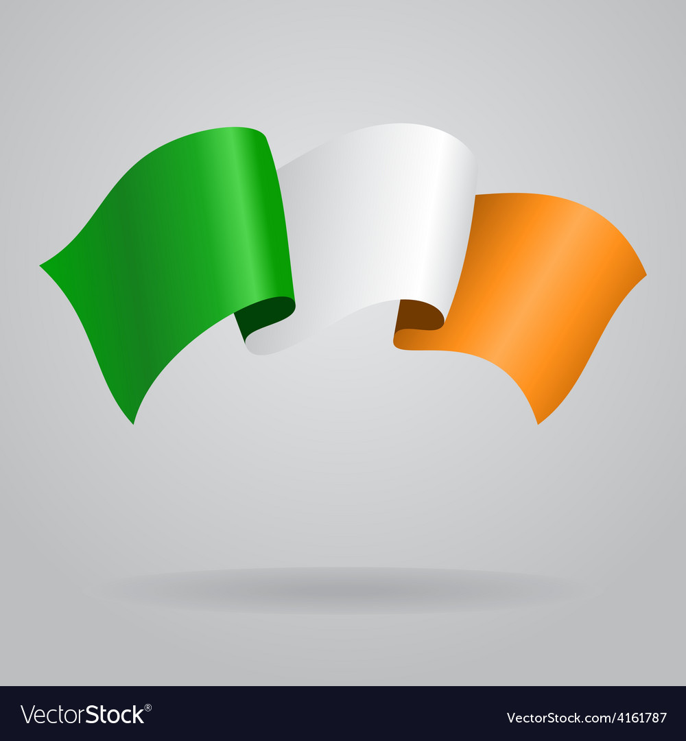 Irish waving flag vector | Price: 3 Credit (USD $3)