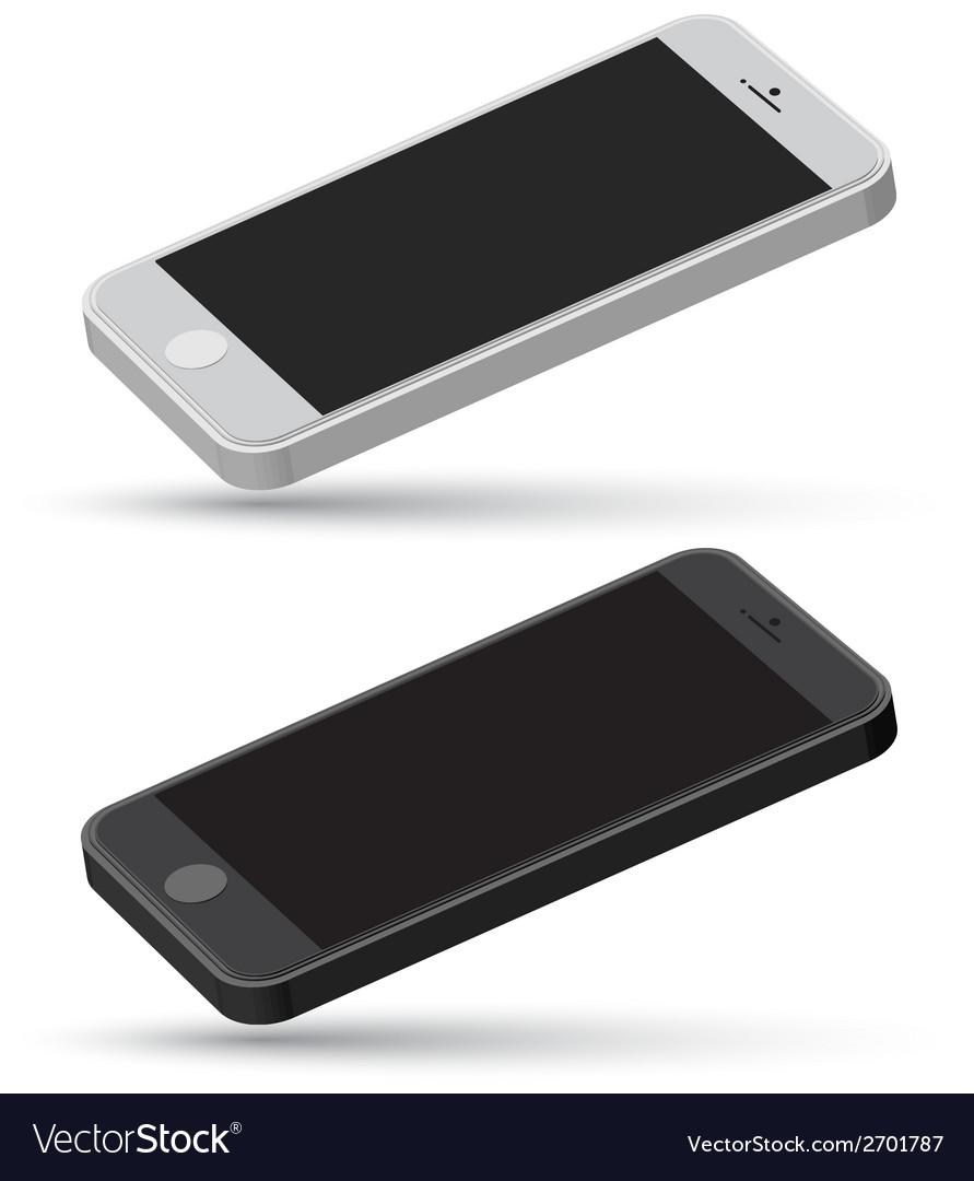 Mobile set mockup vector | Price: 1 Credit (USD $1)