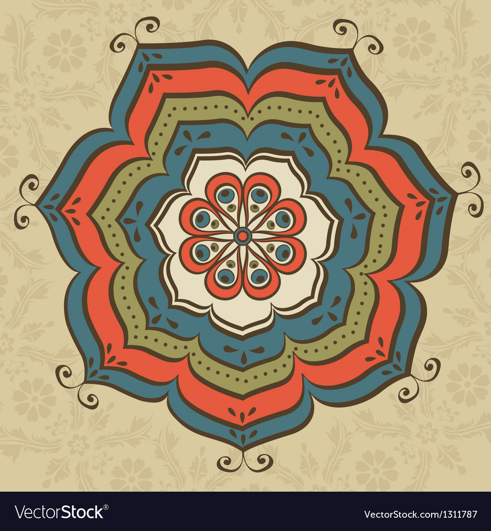 Oriental ornate vector | Price: 1 Credit (USD $1)