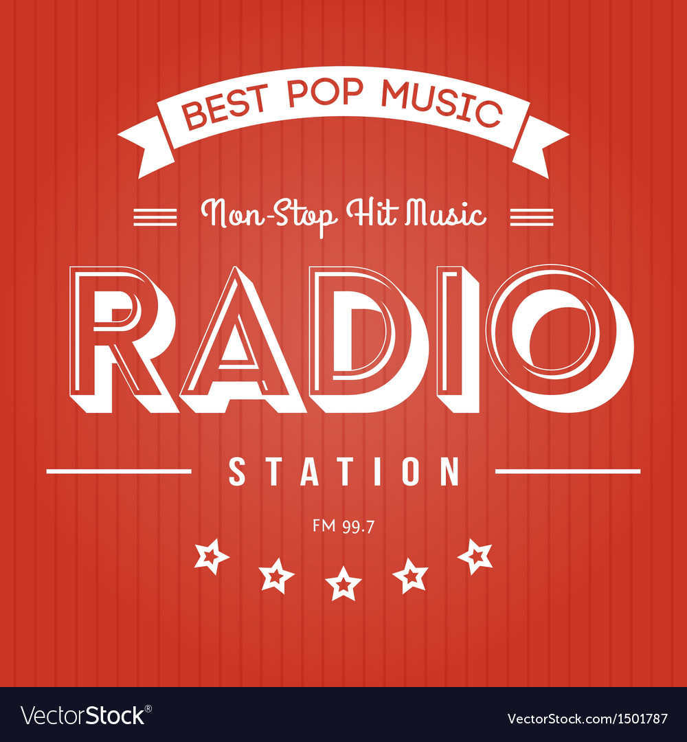 Radio poster vector | Price: 1 Credit (USD $1)