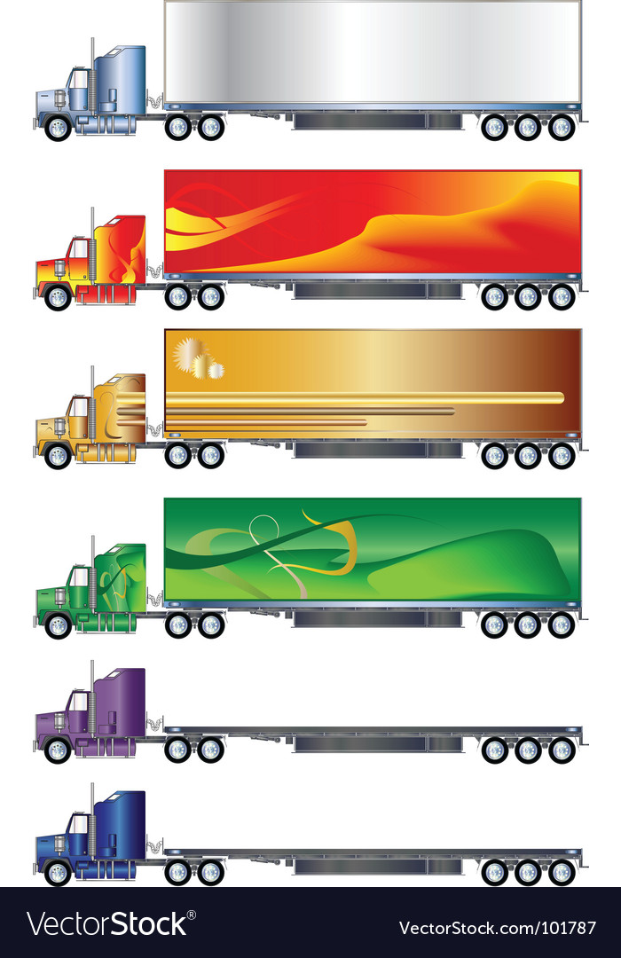 Truck and trailer vector | Price: 1 Credit (USD $1)