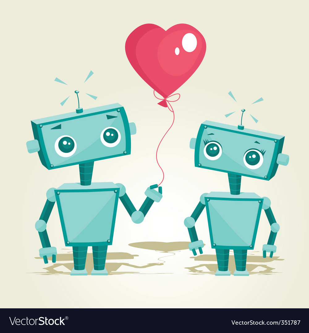 Valentines robot vector | Price: 1 Credit (USD $1)