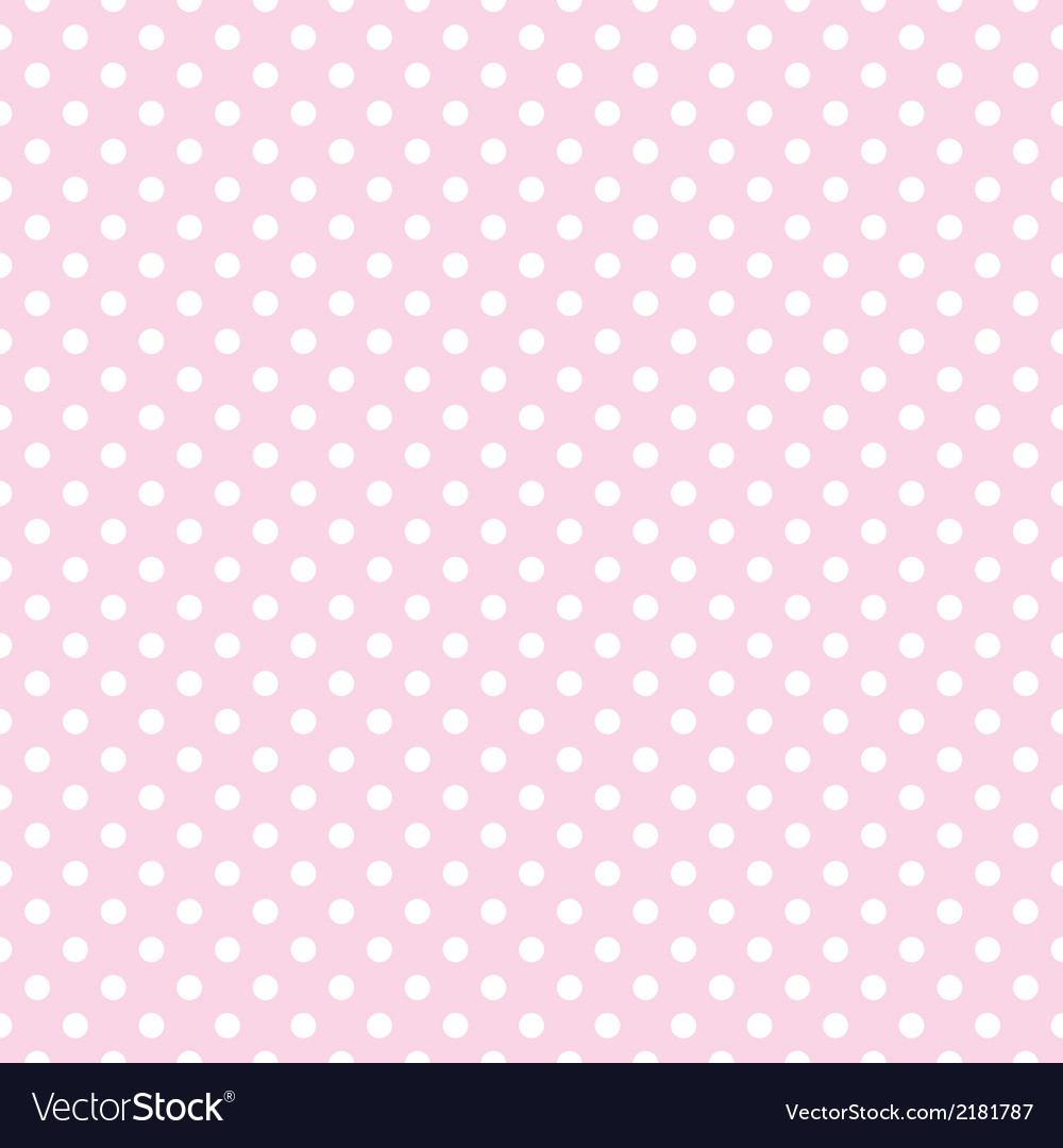White polka dots on tile pink background pattern vector