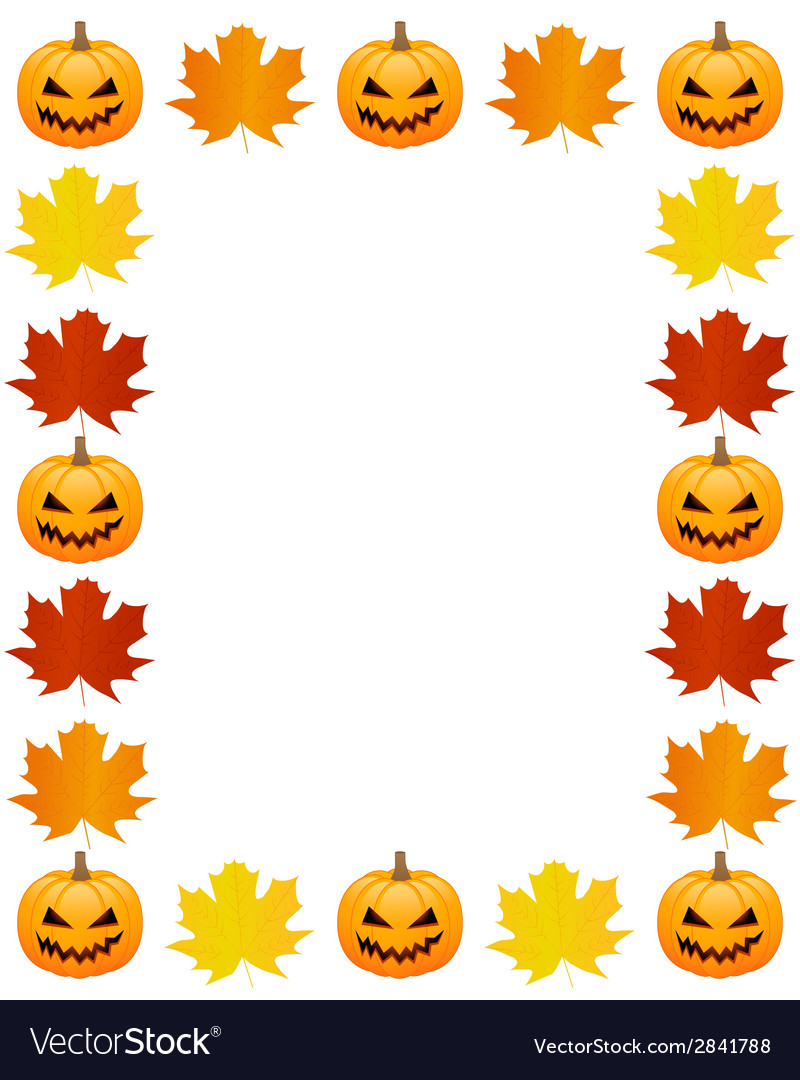 Autumn photo frame vector | Price: 1 Credit (USD $1)