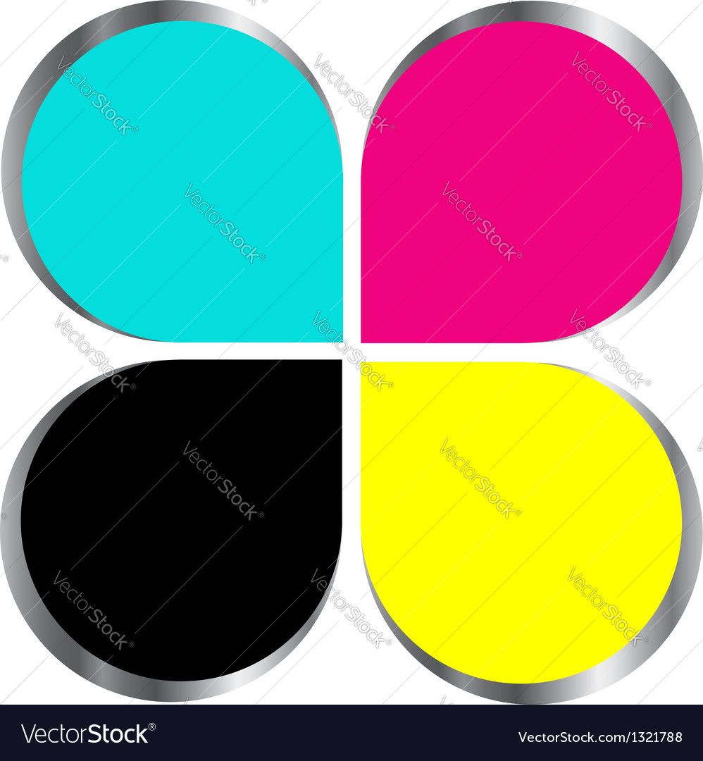 Cmyk print logo concept vector | Price: 1 Credit (USD $1)