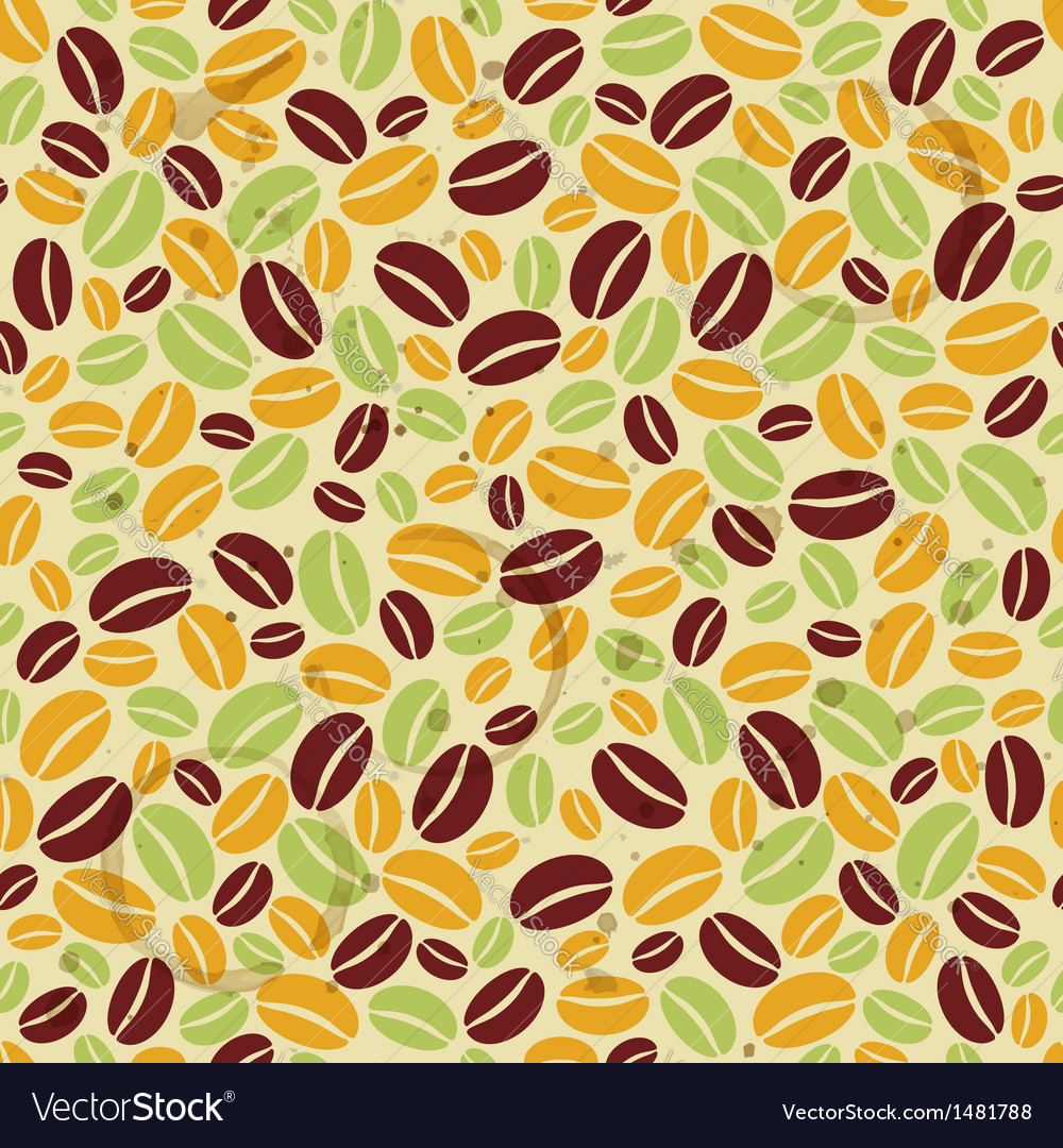 Seamless pattern with coffee beans and grunge vector   Price: 1 Credit (USD $1)