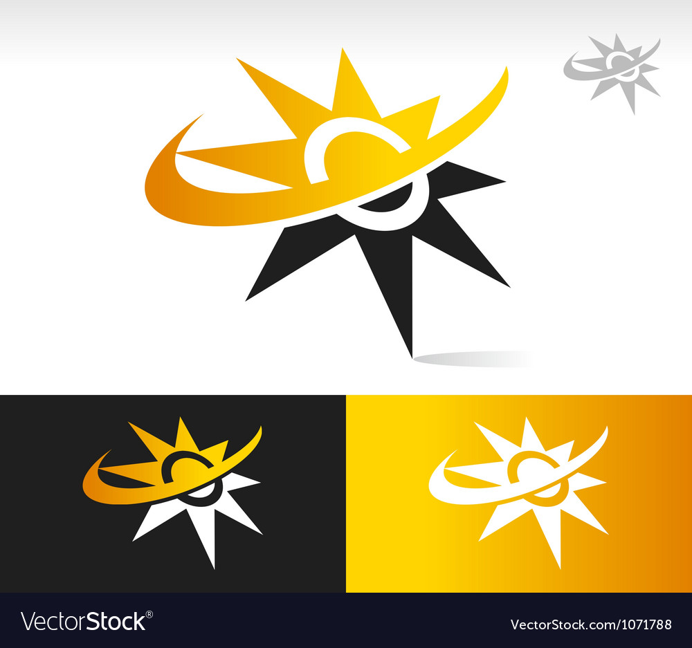 Sun swoosh logo icons vector | Price: 1 Credit (USD $1)
