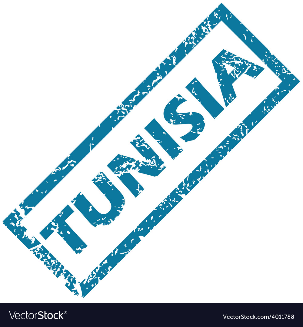 Tunisia rubber stamp vector | Price: 1 Credit (USD $1)