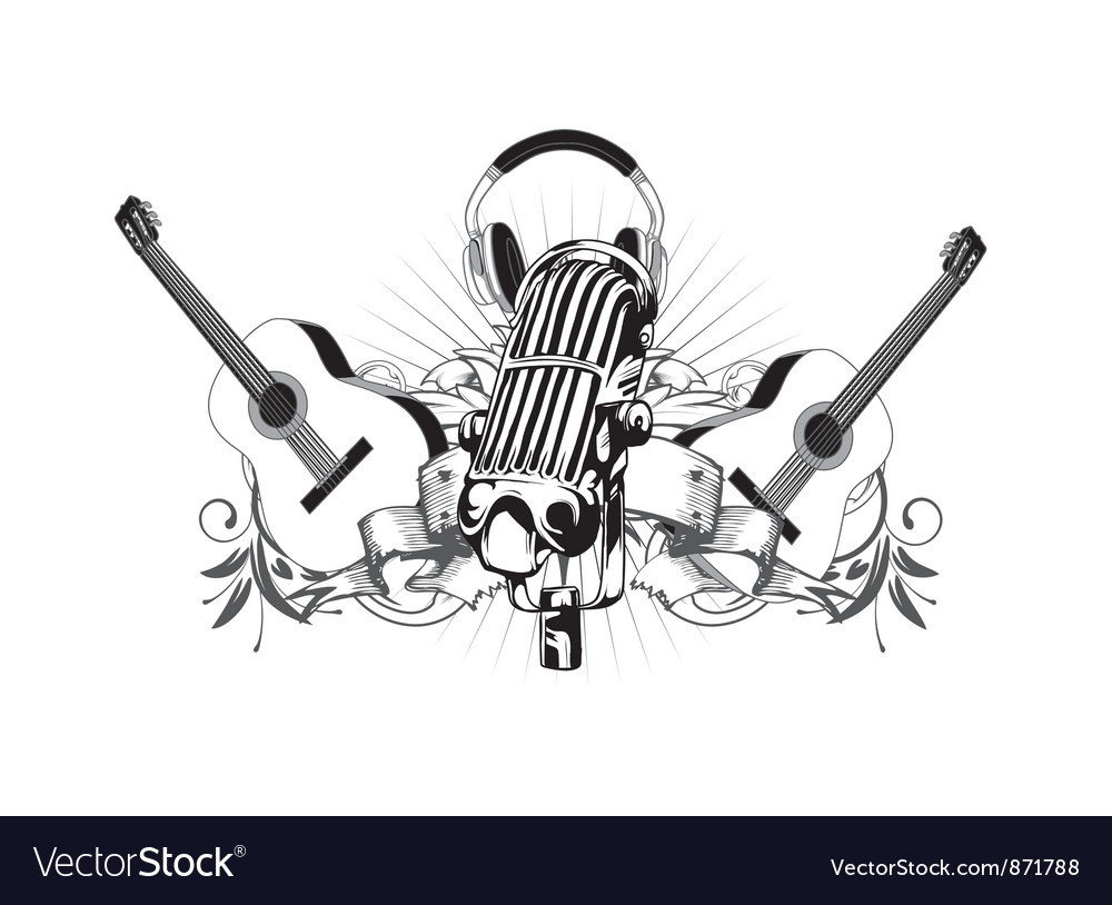 Vintage music t-shirt design vector | Price: 1 Credit (USD $1)