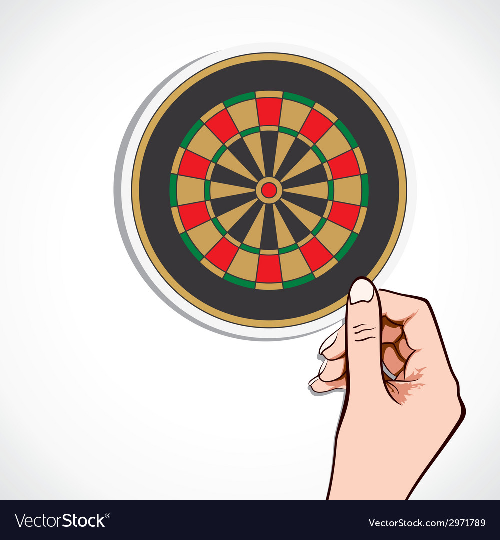 Archery board in hand vector | Price: 1 Credit (USD $1)