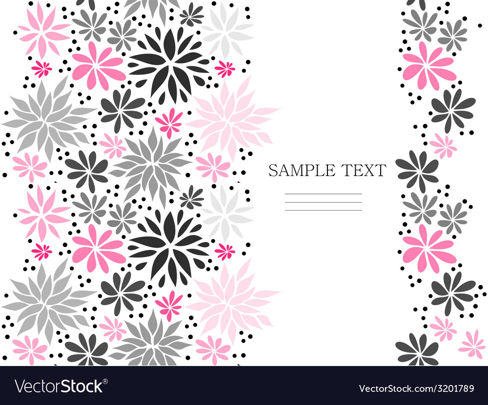 Cute pink seamless floral background vector | Price: 1 Credit (USD $1)