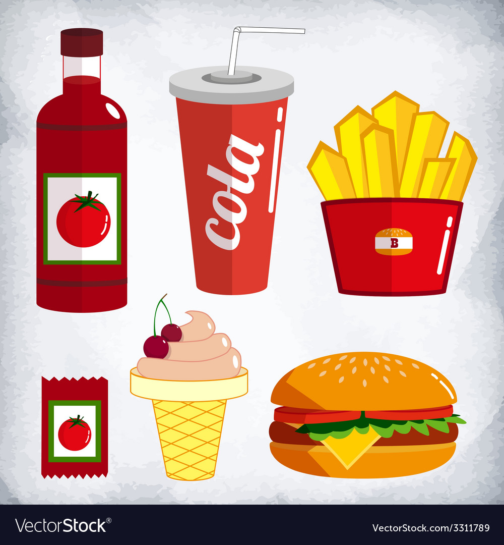 Fast food kit vector | Price: 1 Credit (USD $1)