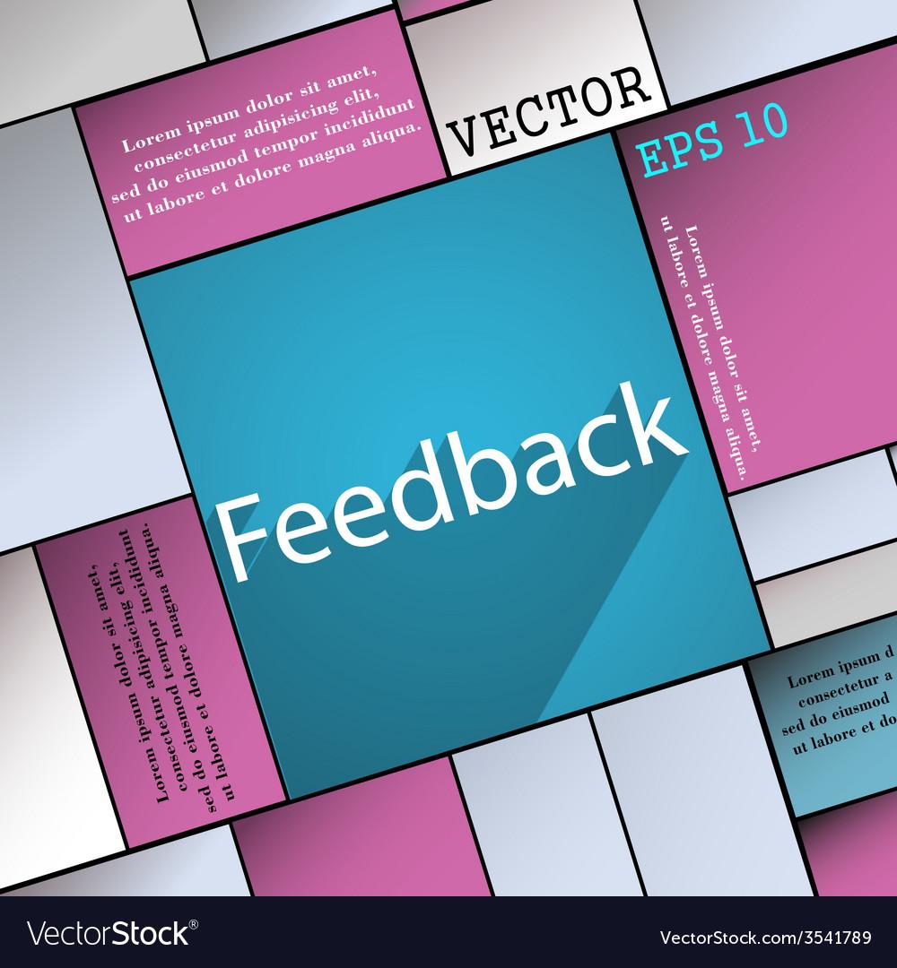 Feedback icon symbol flat modern web design with vector   Price: 1 Credit (USD $1)