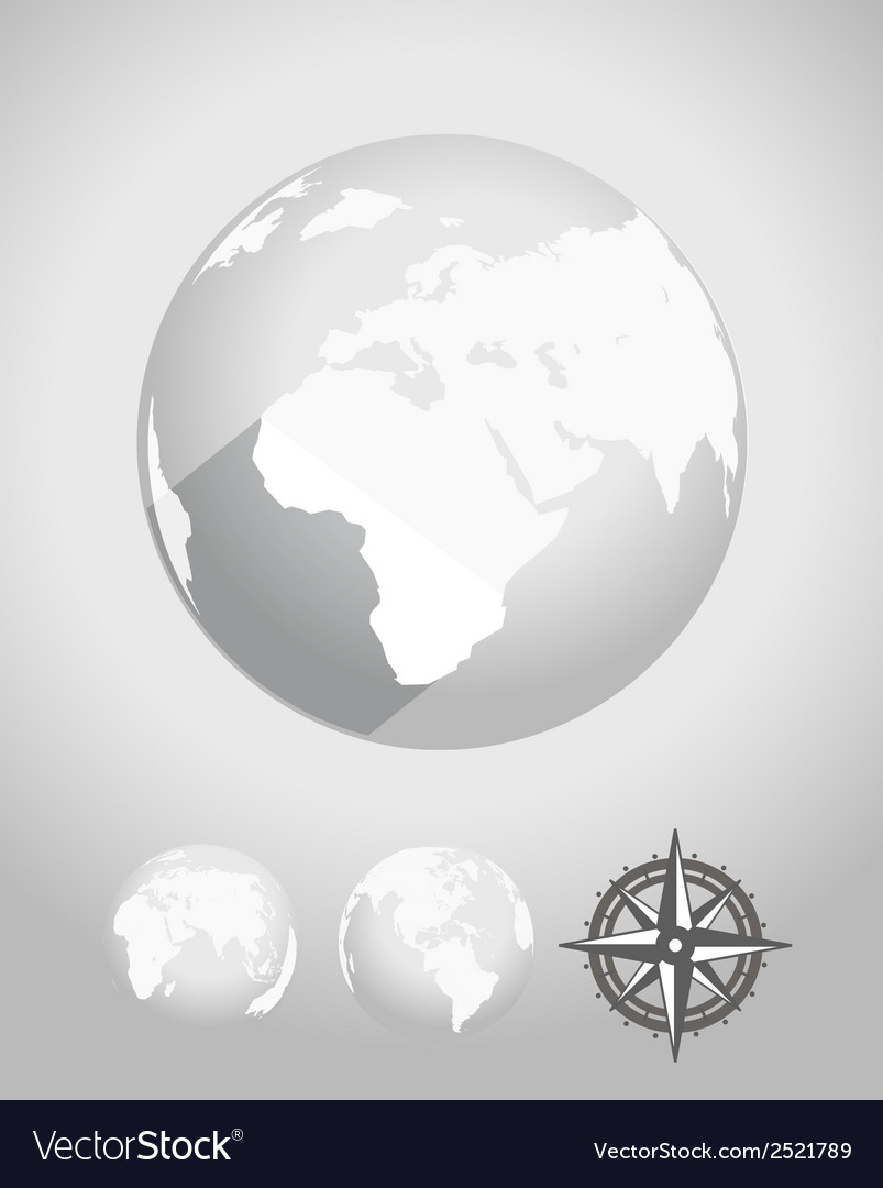 Flat design earth vector | Price: 1 Credit (USD $1)