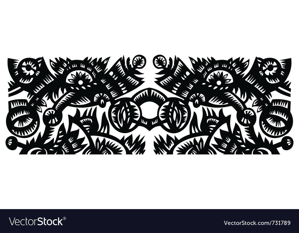 Flowers papercut vector | Price: 1 Credit (USD $1)
