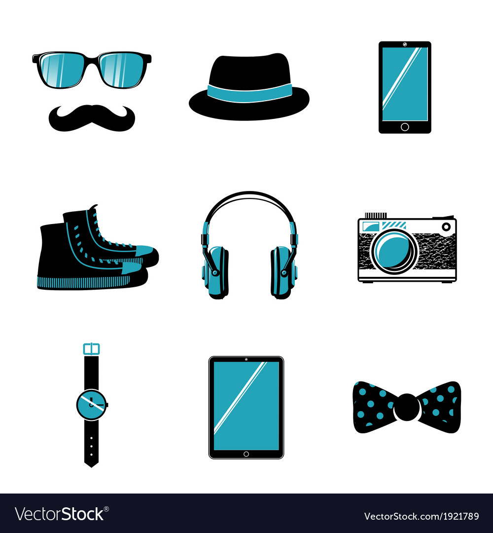Hipster items collection vector | Price: 1 Credit (USD $1)