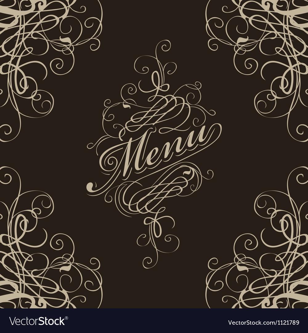 Menu with a flourish vector | Price: 1 Credit (USD $1)