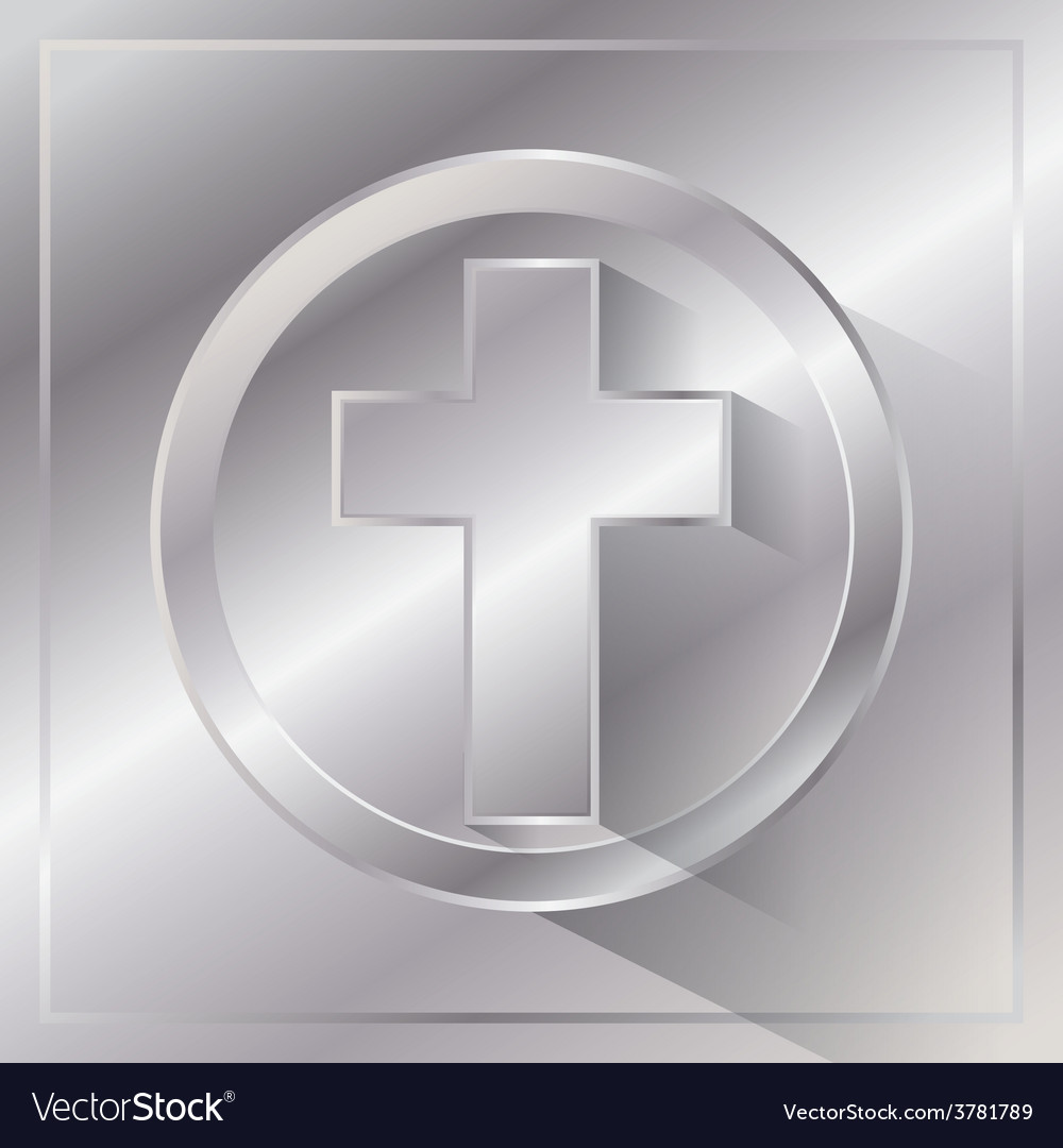 Metal cross vector | Price: 1 Credit (USD $1)
