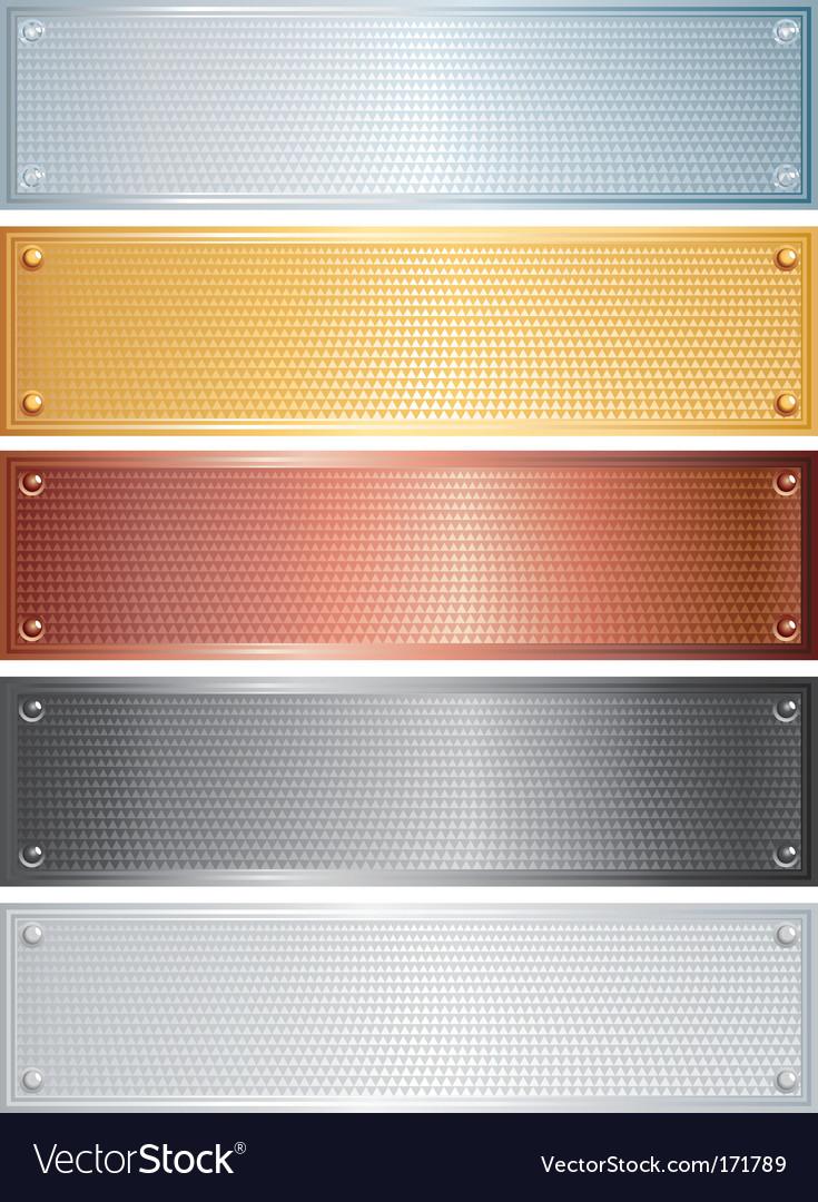 Metallic banners vector | Price: 1 Credit (USD $1)