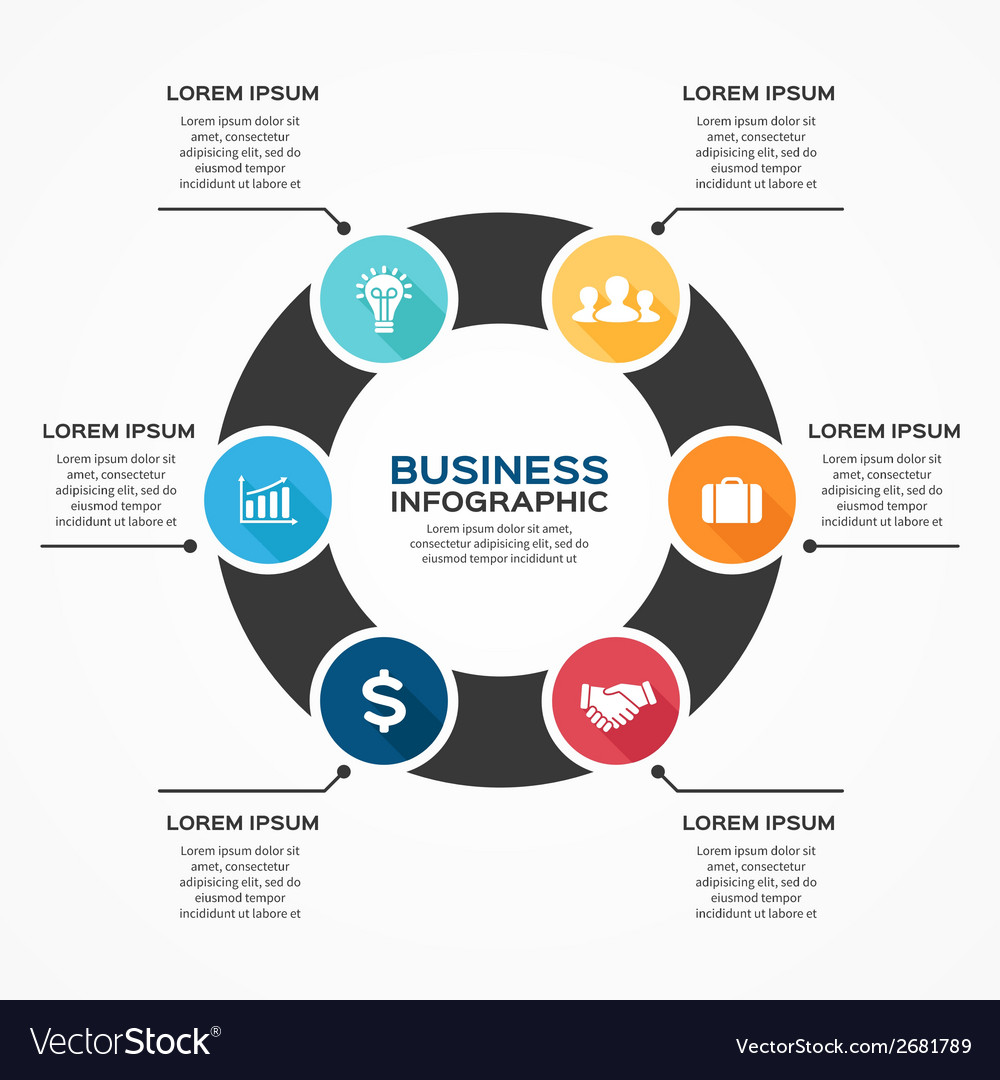 Modern infographic for business project vector | Price: 1 Credit (USD $1)
