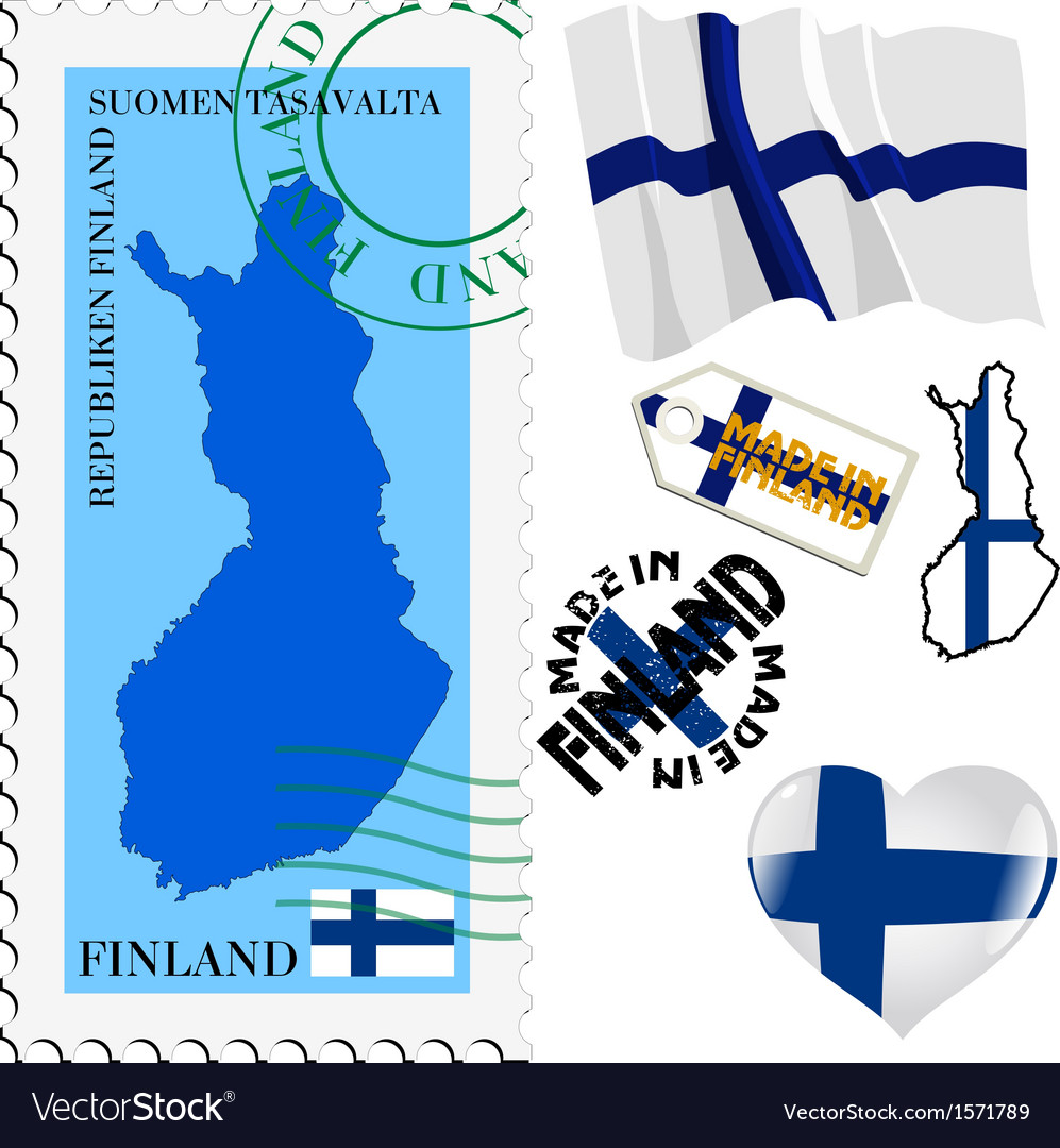 National colours of finland vector | Price: 1 Credit (USD $1)