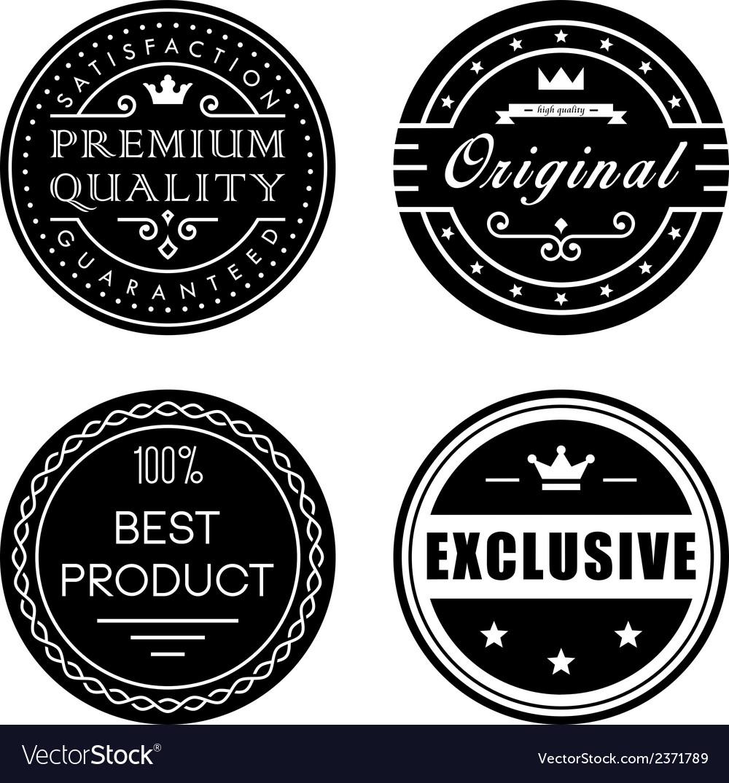 Retro badges vector | Price: 1 Credit (USD $1)