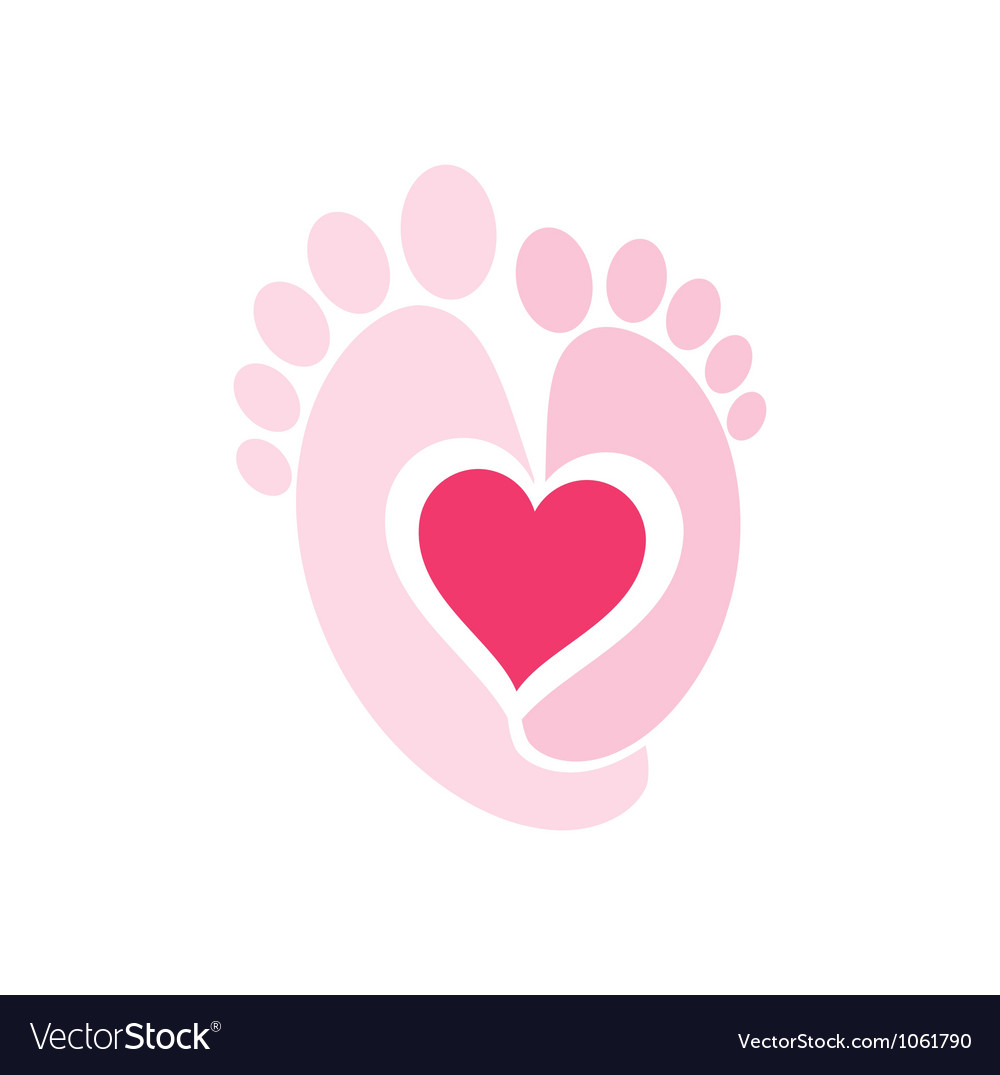 Baby legs symbol vector | Price: 1 Credit (USD $1)