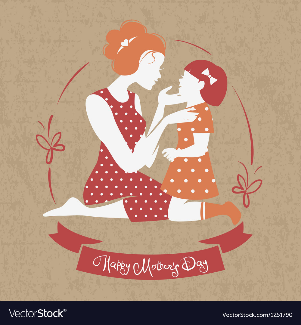 Card of happy mothers day vector | Price: 1 Credit (USD $1)