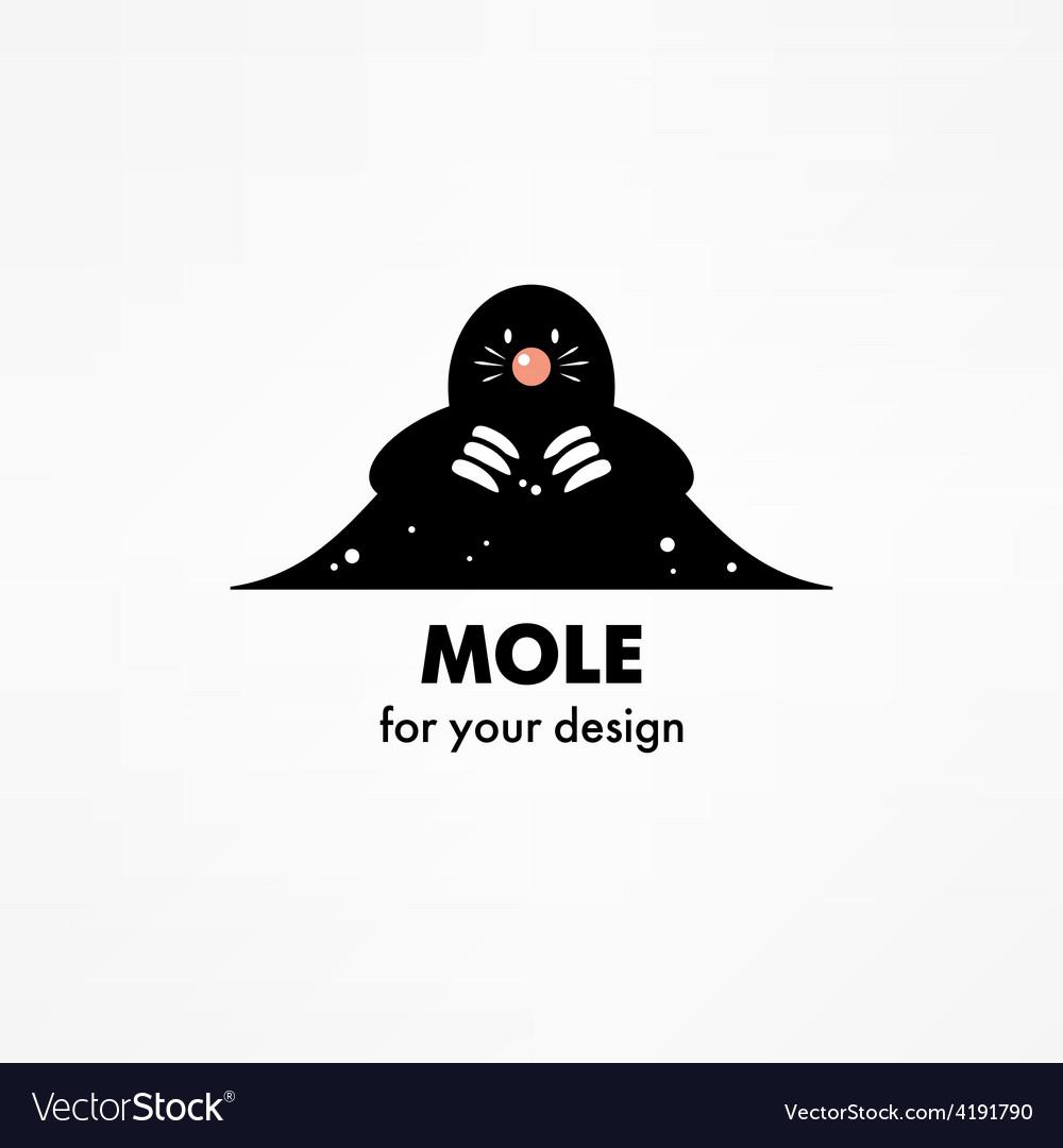 Cute cartoon mole vector | Price: 1 Credit (USD $1)