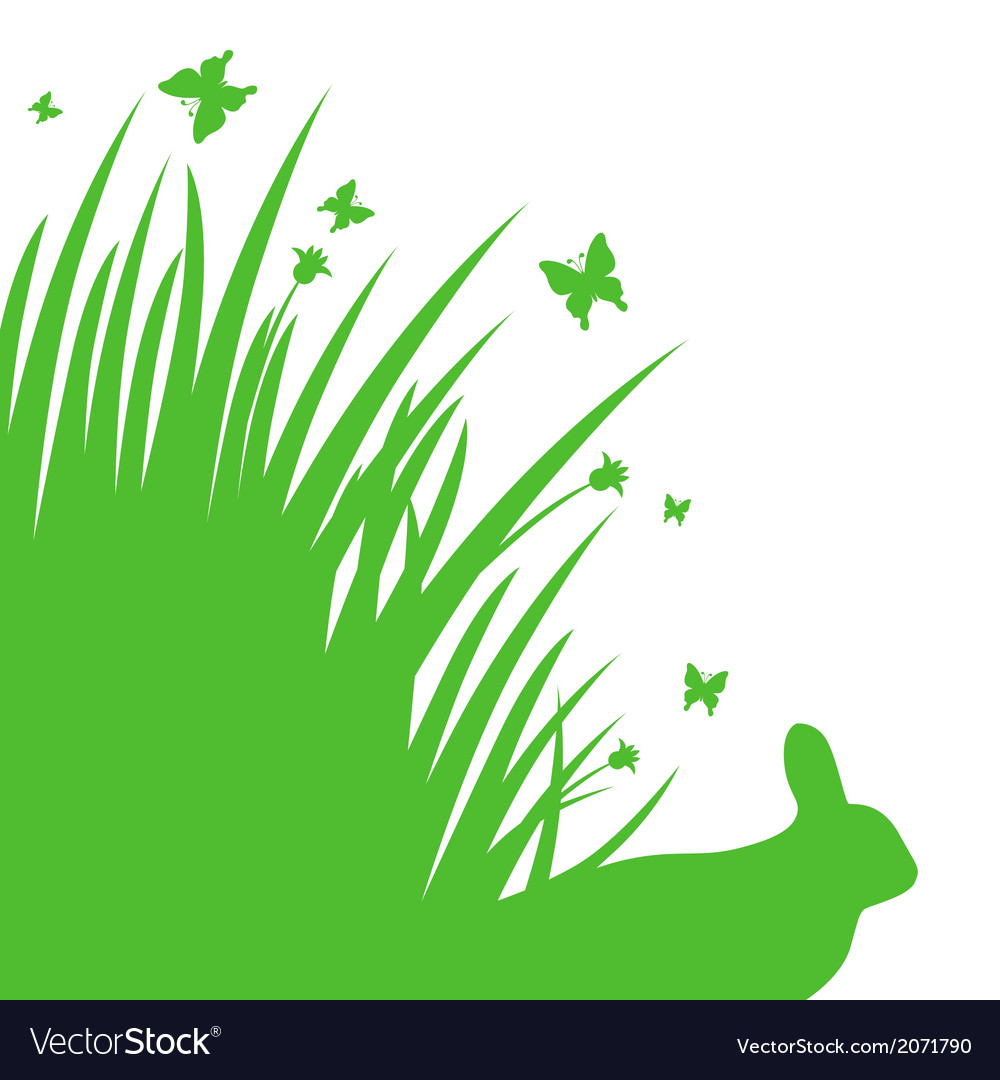 Grass back vector | Price: 1 Credit (USD $1)