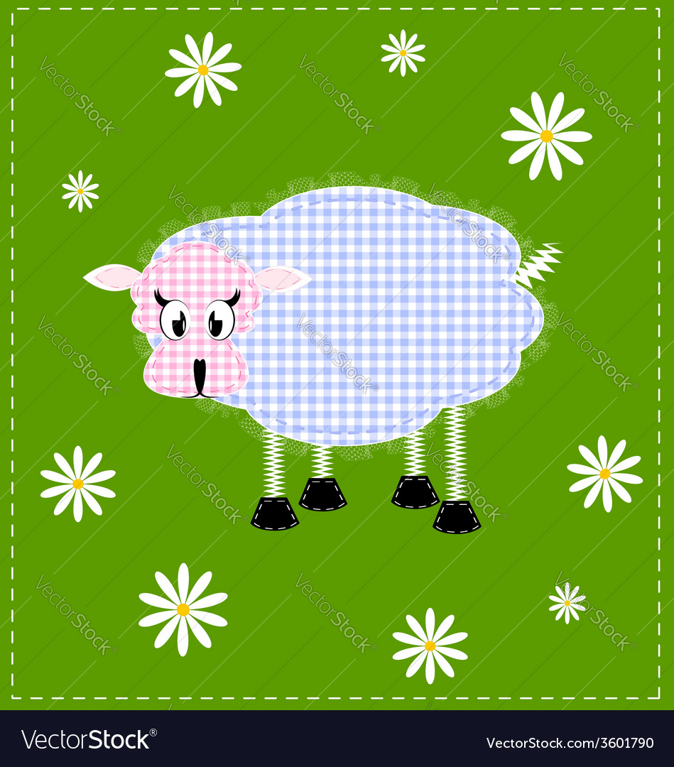 Image of a lamb vector | Price: 1 Credit (USD $1)