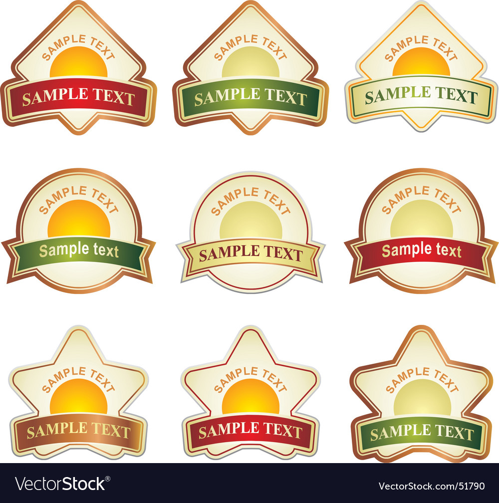 Label assortment vector | Price: 1 Credit (USD $1)