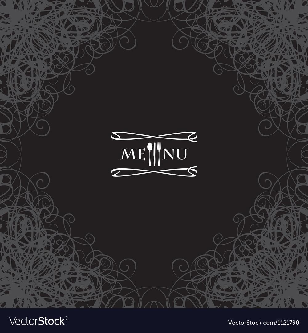 Menu with cutlery vector | Price: 1 Credit (USD $1)
