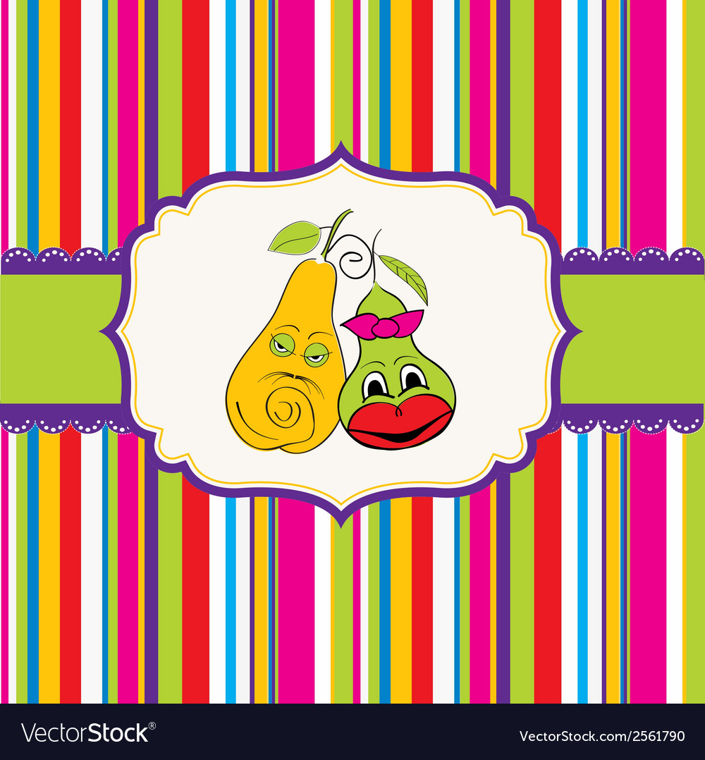 Pears in love vector | Price: 1 Credit (USD $1)