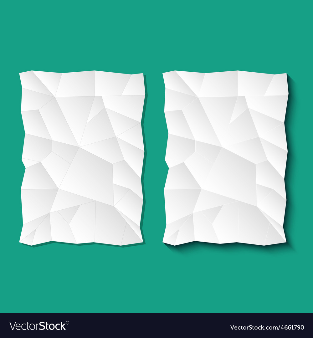 Set of crumpled sheets paper vector | Price: 1 Credit (USD $1)