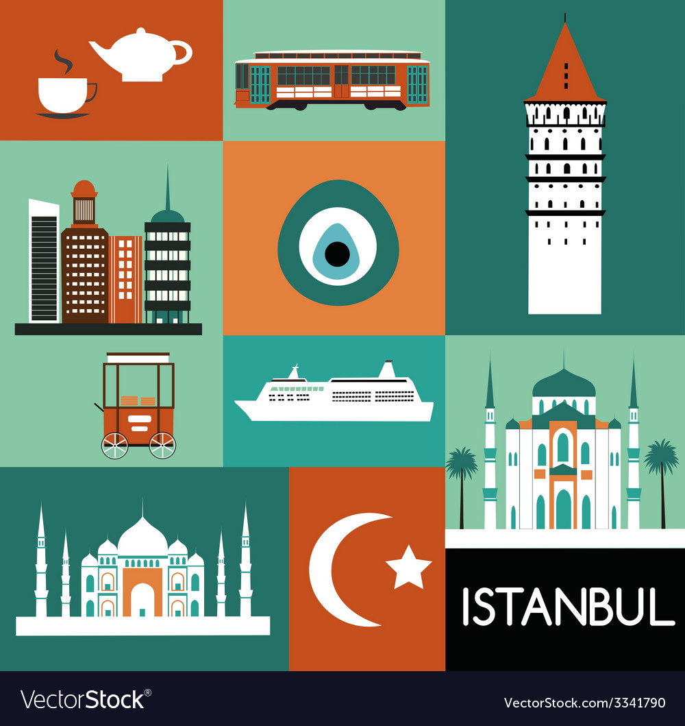 Symbols of istanbul vector | Price: 1 Credit (USD $1)
