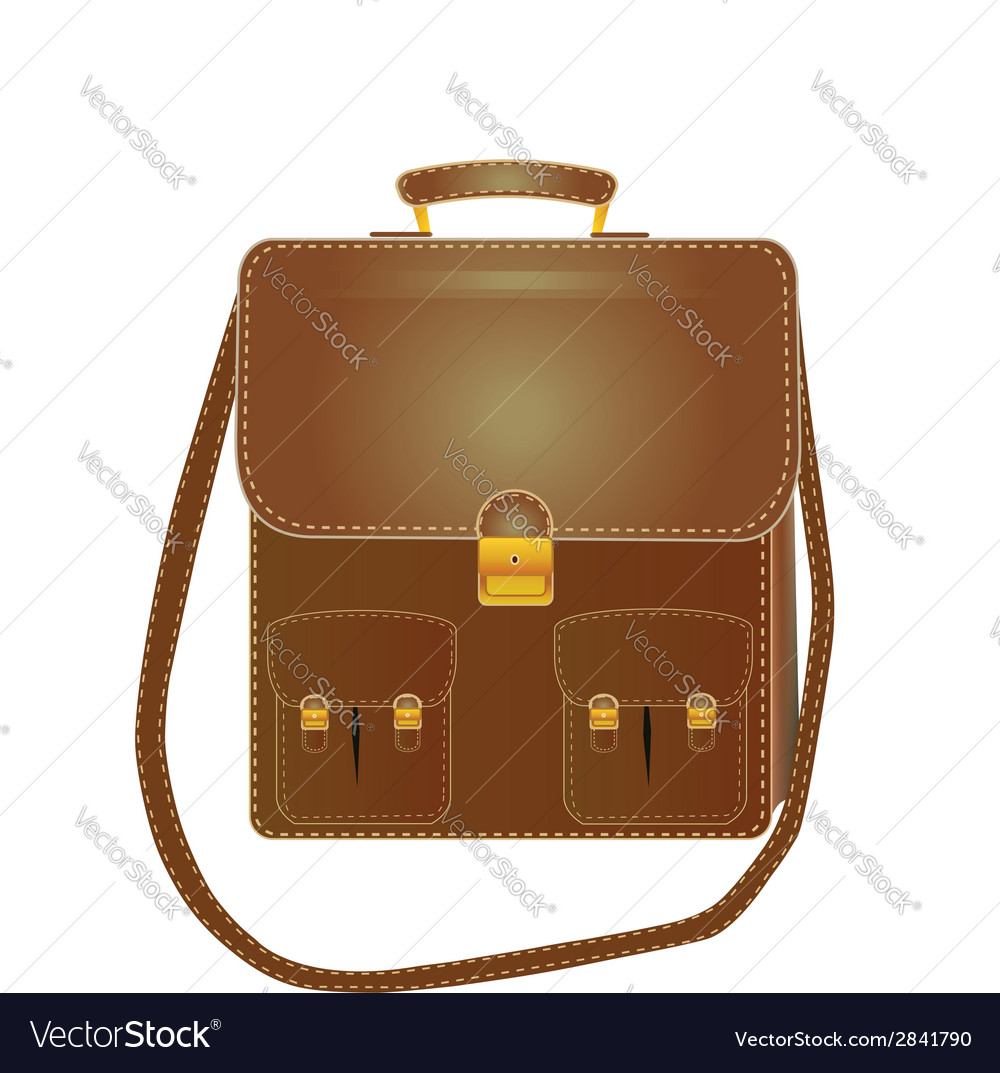Tall leather bag with a long strap vector | Price: 1 Credit (USD $1)