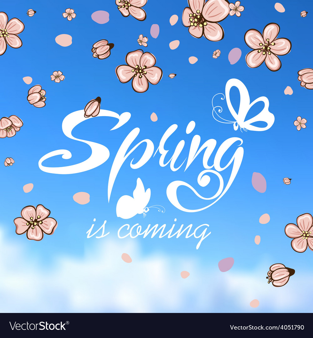 Typographic design lettering spring design with vector | Price: 1 Credit (USD $1)