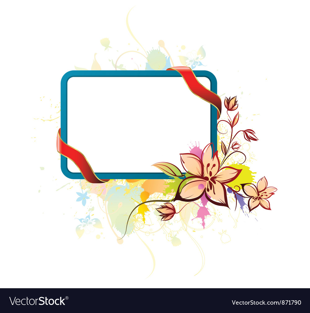 Watercolor floral frame vector | Price: 1 Credit (USD $1)
