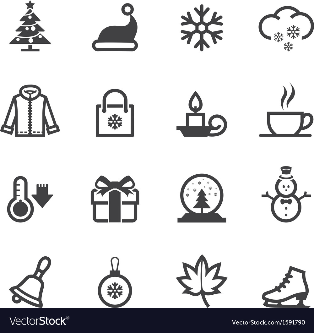 Winter icons vector | Price: 1 Credit (USD $1)