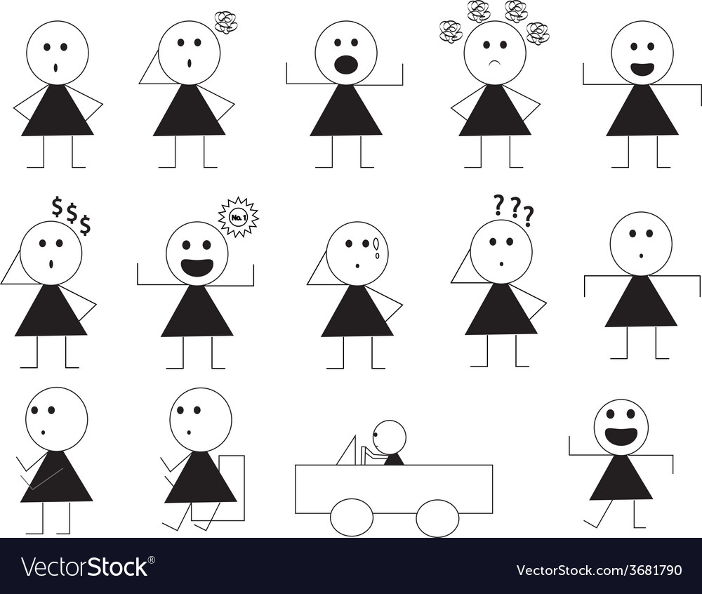 Woman manner sign cartoon1 01 vector | Price: 1 Credit (USD $1)