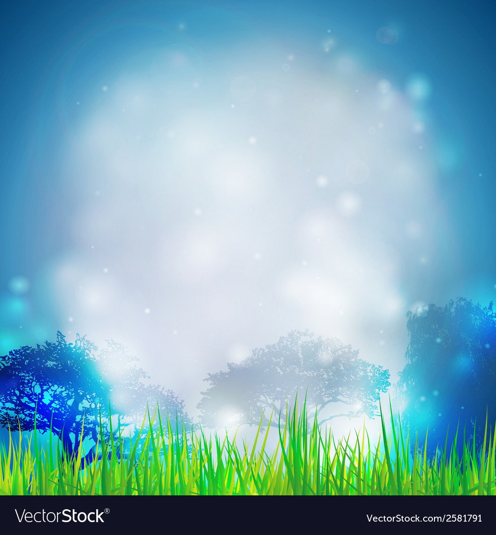 Abstract background with grass and silhouettes of vector   Price: 1 Credit (USD $1)
