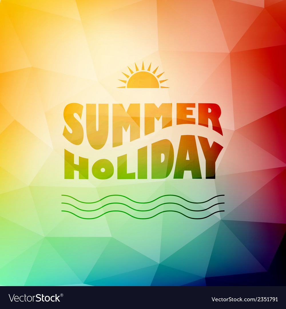 Abstract background with summer text vector | Price: 1 Credit (USD $1)