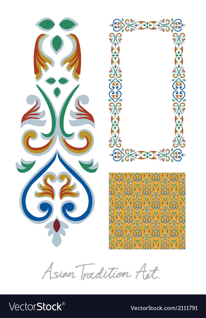 Asian tradition style art collection vector   Price: 1 Credit (USD $1)