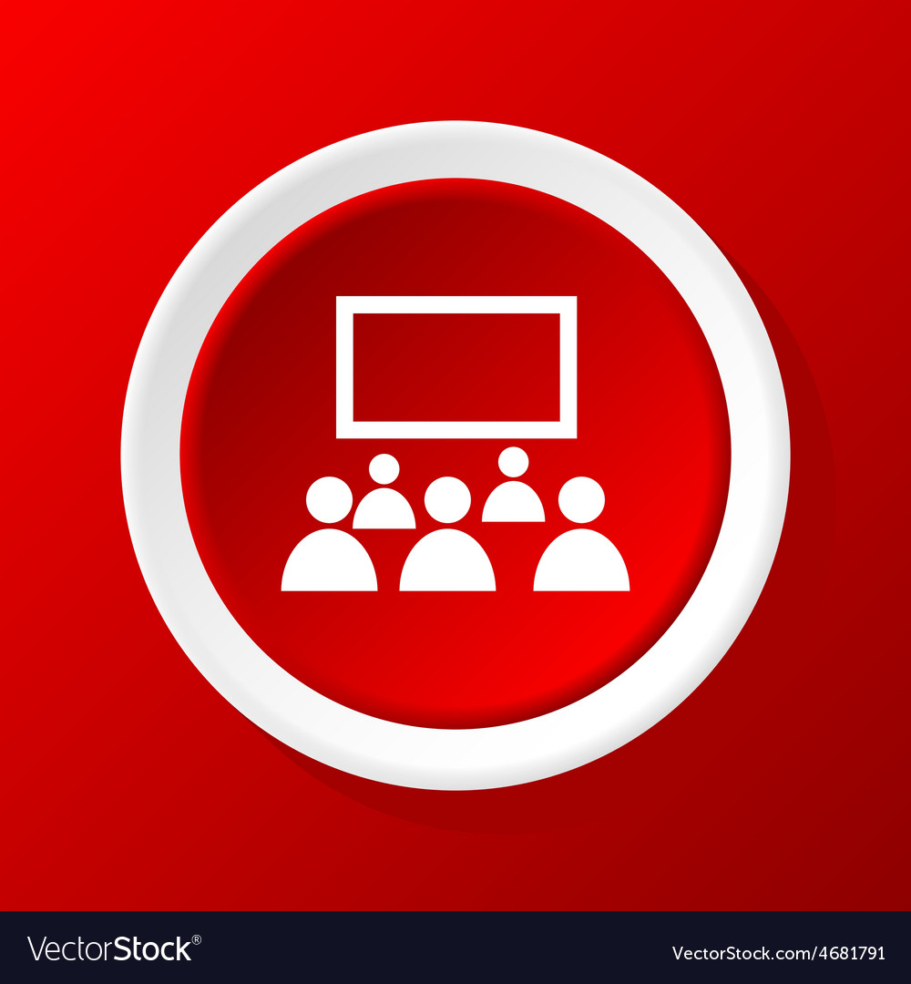Audience icon on red vector | Price: 1 Credit (USD $1)