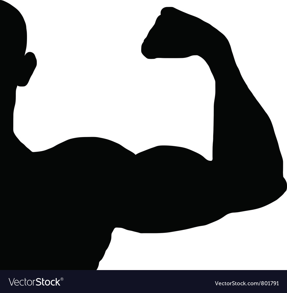 Bodybuilder silhouette vector | Price: 1 Credit (USD $1)