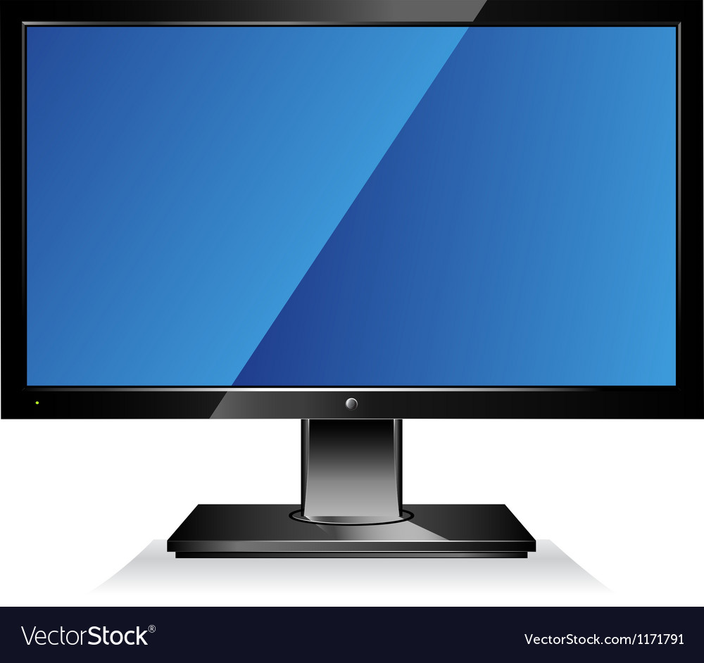 Computer wide flat screen monitor vector | Price: 1 Credit (USD $1)