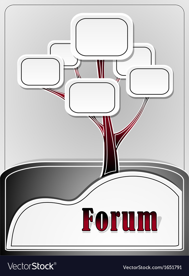 Forum tree or concept information vector | Price: 1 Credit (USD $1)