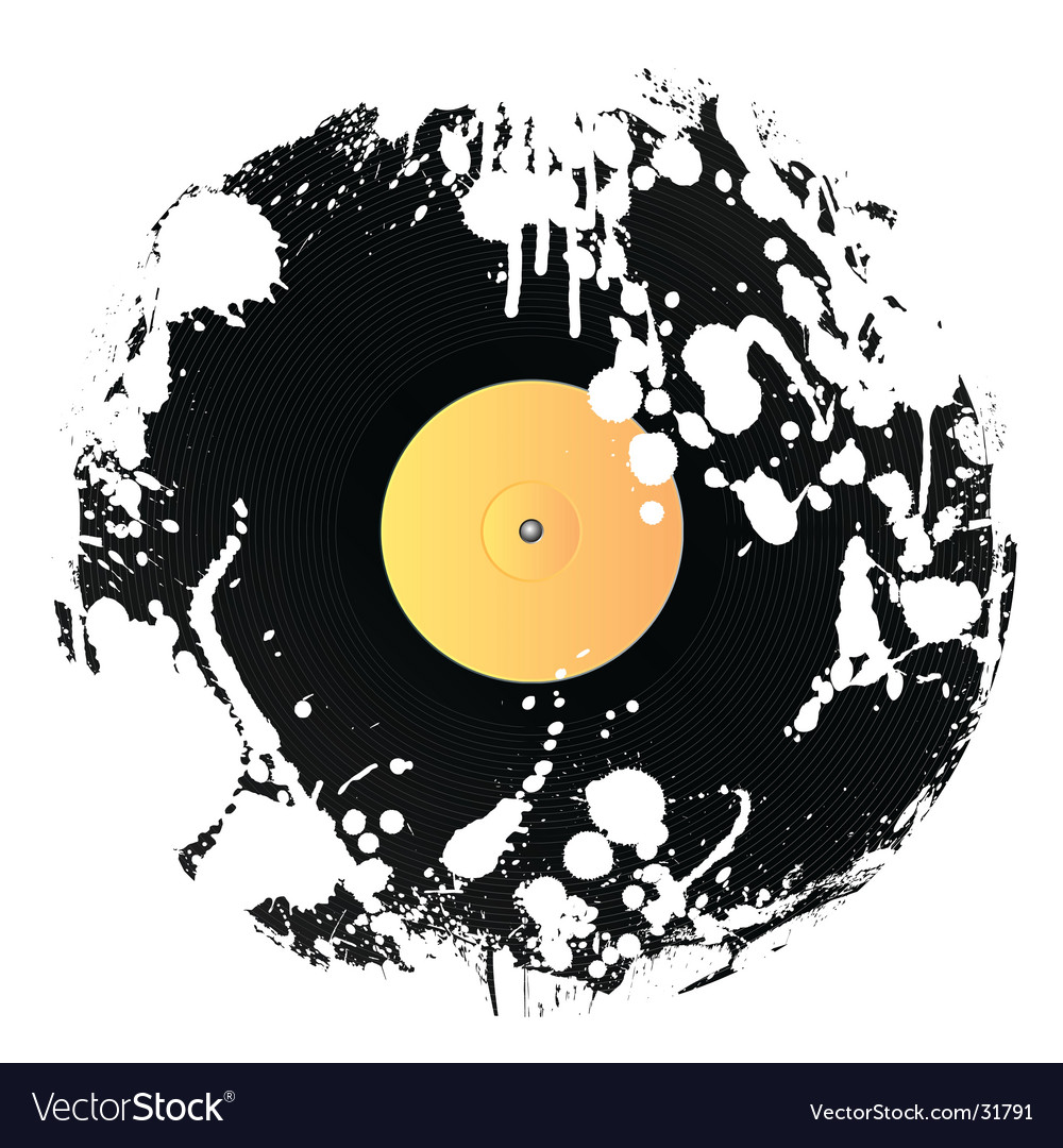 Grunge vinyl disc vector | Price: 1 Credit (USD $1)